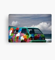 Colourful Transport Hippie Bus Canvas Print