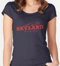 The X Files: Skyland Mountain  Women's Fitted Scoop T-Shirt
