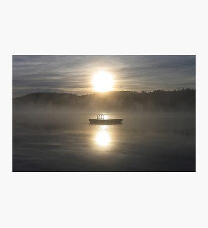 Waiting for fun - Dock on lake Photographic Print