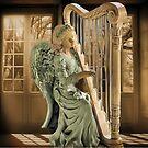 Ƹ̴Ӂ̴Ʒ WINGS OF AN ANGEL PLAYING HARP MUSIC- VARIOUS APPAREL-- PICTURE,PILLOW, AND OR TOTE BAG Ƹ̴Ӂ̴Ʒ by ✿✿ Bonita ✿✿ ђєℓℓσ