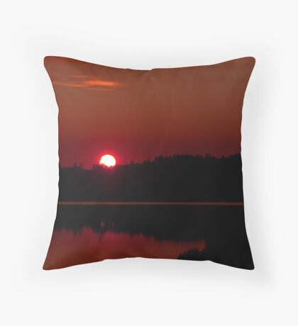 Sunset on Algonquin Park Throw Pillow