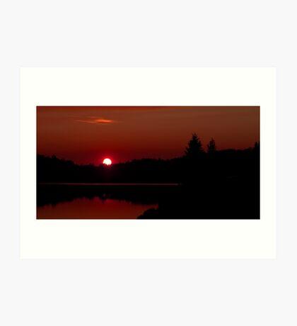 Sunset on Algonquin Park Art Print