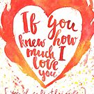 Valentine's day watercolor card by Vinchenko