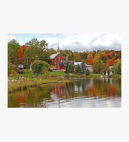 Autumn in Mont Ste-Marie, Quebec Photographic Print