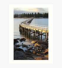 Granite Island Bridge Pt.6 Art Print