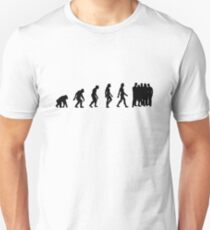 The Evolution of overpopulation Unisex T-Shirt