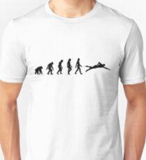 The evolution of swimming Unisex T-Shirt