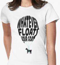 Camiseta entallada lo que sea que flote tu cabra