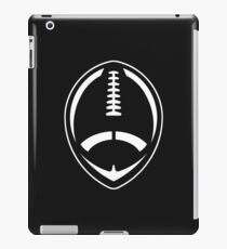 White Vector Football iPad Case/Skin