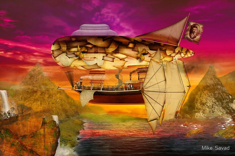 Steampunk - Blimp - Everlasting wonder by Michael Savad