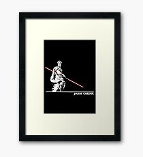 Star Wars: Julius Caesar - White Ink Framed Print