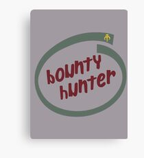 Boba Fett - Bounty Hunter Intel logo Canvas Print