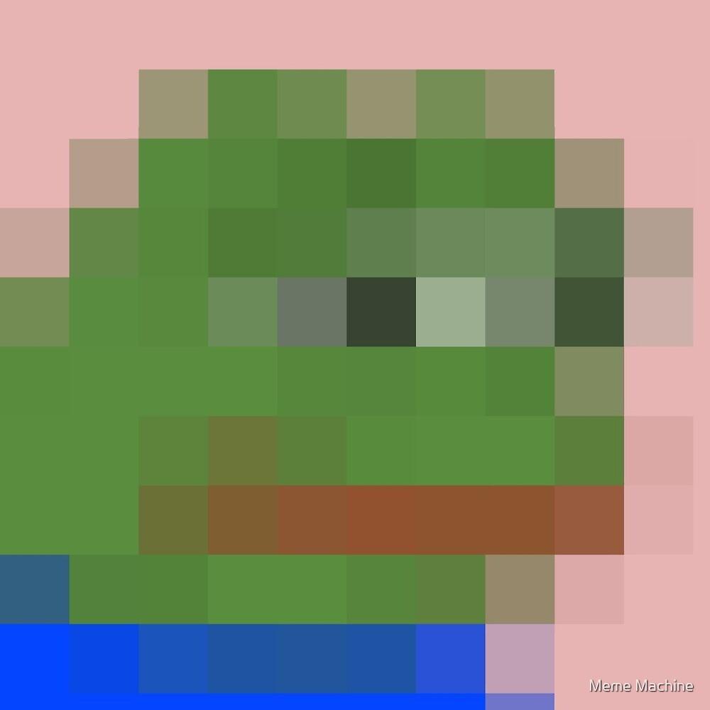 """Pixel Pepe"" By Meme Machine"