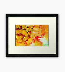 Matrix Golden Framed Print