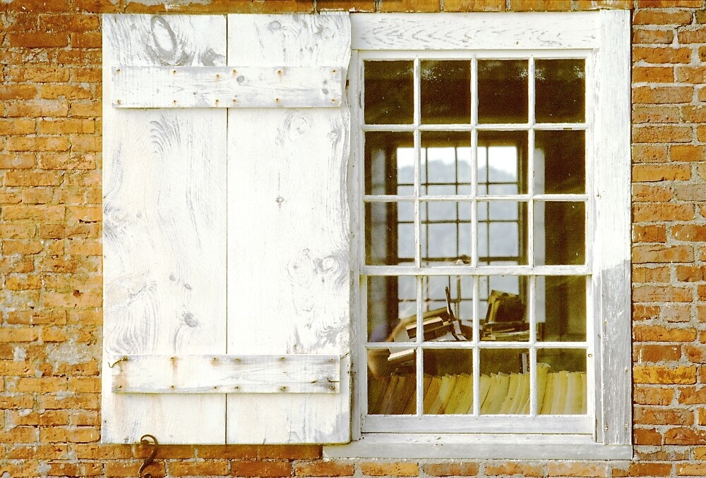 Brick Schoolhouse Window - Aurora, Me. by Peter J Sucy
