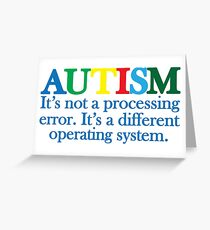 Autism Operating System Greeting Card