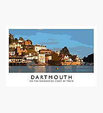 Dartmouth (Railway Poster) Photographic Print