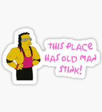 BRET HART SIMPSONS Sticker