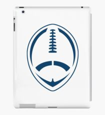 Blue Vector Football iPad Case/Skin