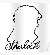 3cf88ab929a Sherlock Holmes Face Sherlocked Sherlockian Posters   Redbubble