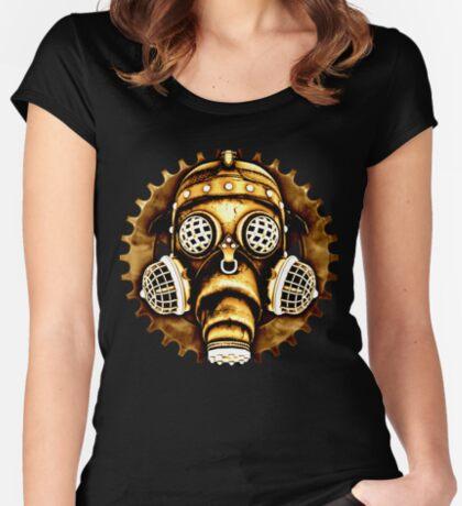 Steampunk/Cyberpunk Gas Mask #1D Steampunk T-Shirts Women's Fitted Scoop T-Shirt