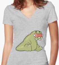 Deviljho Snack Women's Fitted V-Neck T-Shirt