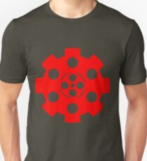 Gear - Red on Black Unisex T-Shirt