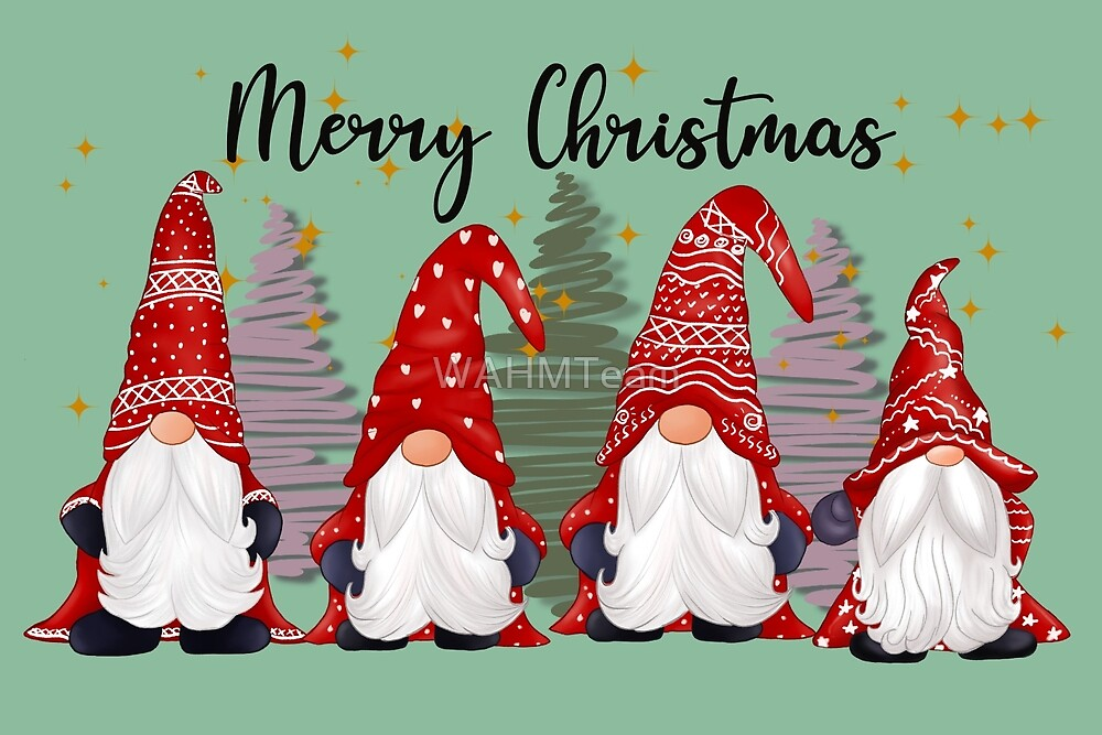 Merry Christmas Gnomes by WAHMTeam
