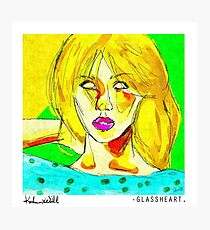 Glassheart (Yellow/Blue) Photographic Print