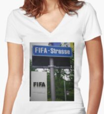 Fifa Headquarters Women's Fitted V-Neck T-Shirt