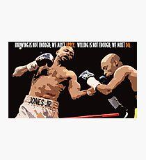 Boxing Motivational  Photographic Print