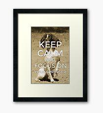 Keep Calm Springer Framed Print