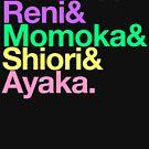 Momoclo goes Helvetica by merimeaux