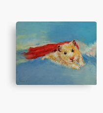 Hamster Superhero Canvas Print
