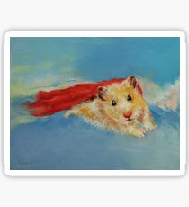 Hamster Superhero Sticker