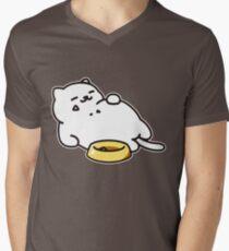 Camiseta para hombre de cuello en v Neko atsume - Tubbs cat
