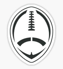 Vector Football - Mesh (Black) Sticker