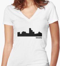 Omaha Women's Fitted V-Neck T-Shirt