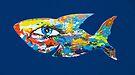 Happy Fish In The Blue  by Juhan Rodrik