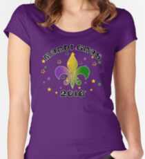 2016 Mardi Gras New Orleans NOLA 2016 Women's Fitted Scoop T-Shirt