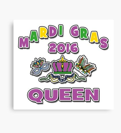 Mardi Gras Queen 2016 New Orleans NOLA 2016 Canvas Print