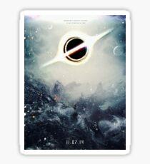 Black Hole Fictional Teaser Movie Poster Design Sticker