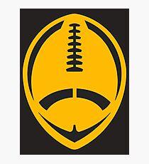Gold Vector Football Photographic Print