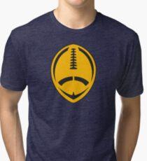 Gold Vector Football Tri-blend T-Shirt