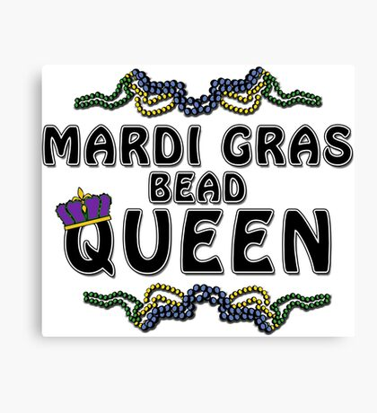 Mardi Gras Bead Queen New Orleans NOLA Canvas Print