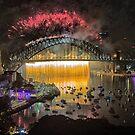Sydney NYE Fireworks 2015 # 18 by Philip Johnson