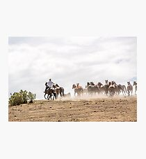 Bringing in the horses Photographic Print