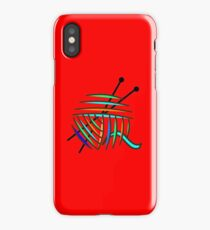 Knitting Needles and Colorful Yarn iPhone Case/Skin
