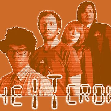 The IT Crowd - ORANGE CRT Glow  by SMALLBRUSHES