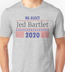 Re-Elect Jed Bartlet 2020 Stars and Stripes T-Shirt